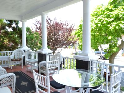 Enjoy the gentle breezes from our roomy front porch.