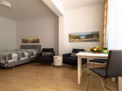 Photo for 1-room apartment in a top location, only 300 m to the beach