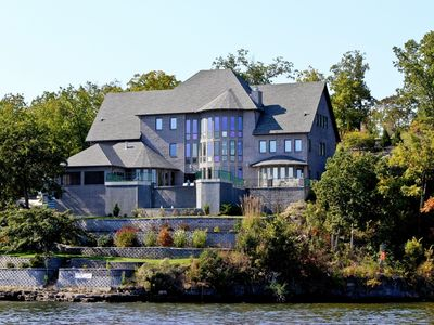 Photo for Private 7+ Bedroom Home with pool & hot tub sits on over 700 feet of lakefront