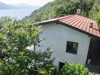 Photo for Very nice apartment in Cannobio with panoramic views of Lake Maggiore