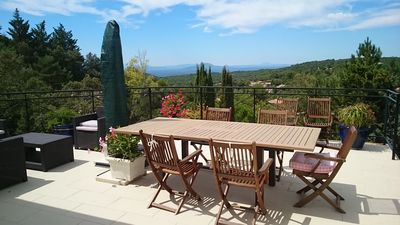 Photo for IN TOURTOUR IN A PRIVATE ESTATE, EXCEPTIONAL VIEW VILLA WITH ITS POOL