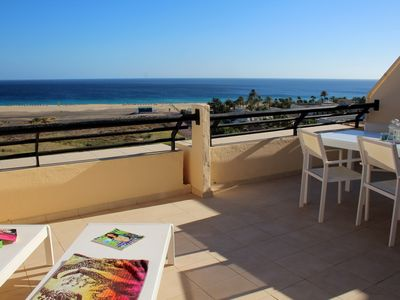 Photo for Large sun terrace in the 9th Floor overlooking the beach of Jandia