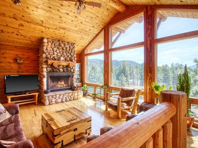 Photo for Cabin on 10 acres with private hot tub, views of Pikes Peak