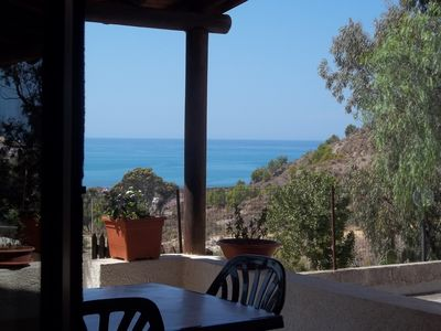 Photo for House with independent apartment with a splendid view of the sea - Seccagrande Ribera