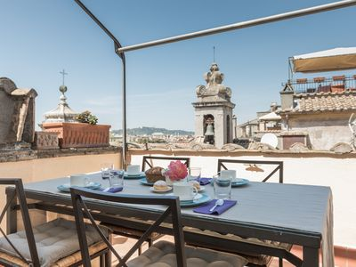 Photo for Pantheon breathtaking view penthouse with terrace