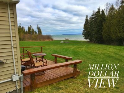 Photo for Cozy Beachfront Cottage for two near Mackinaw City!