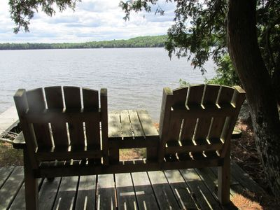 Photo for Peaceful Lakeside Retreat with Private Frontage & Dock / Acadia Area
