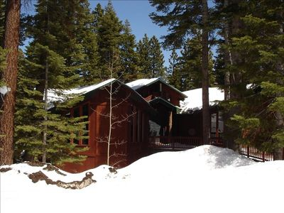 House Exterior.  Property is on a cul-de-sac surrounded by Tahoe National Forest