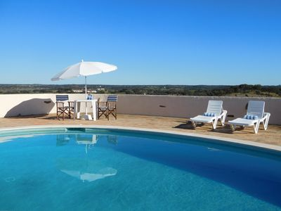 Photo for RELAXING HOLIDAY VILLA - PANORAMIC RURAL ALENTEJO VIEWS, POOL, BIKES, PING PONG