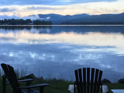 Photo for Authentic Adirondack camp ~ walk-in beach ~ a place you'll keep coming back to
