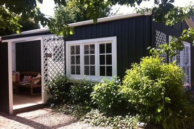Plum Tree Studio with entry porch.