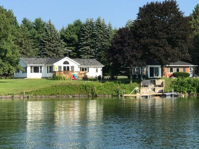 Photo for 200 feet of pristine lake frontage & two cottages - One rental fee