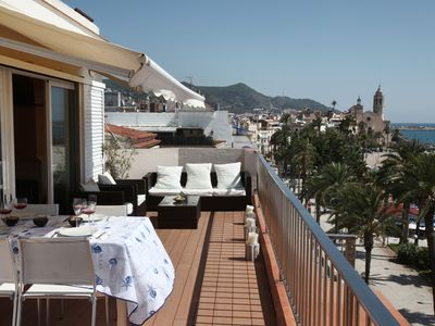 Photo for Luxury flat on the top floor with 50 m² terrace on the waterfront