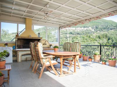 Photo for Roula's Veranda stunning olive groove view