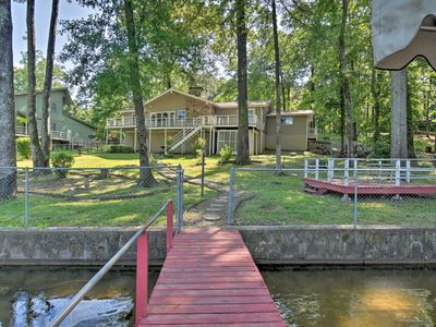 Photo for NEW-Hot Springs Lakefront Resort Home, Deck & Dock