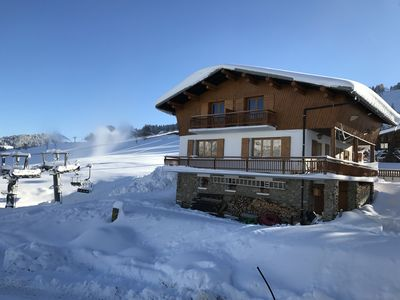 Photo for CHALET ON THE SLOPES OF A SIDE OF DEPARTURE TELES. THE Logère, THE VILLAGE
