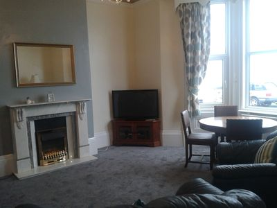 Photo for Filey-Ground Floor Apartment, Sea View, Private patio. Dog friendly.