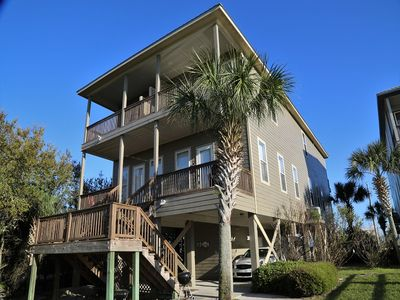 Photo for WHO CARES? ~ Gorgeous Waterfront Home ~ 2 Pools/Hot Tub FREE Wifi hosted by Gulfsands Rentals