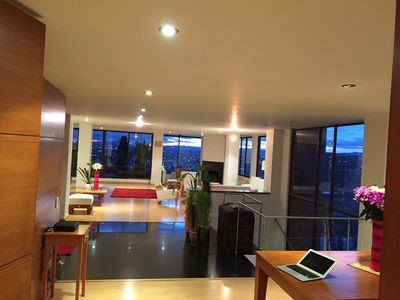 Photo for IMPRESSIVE FURNISHED PENTHOUSE WITH AMAZING VIEWS IN ROSALES-BOGOTA.