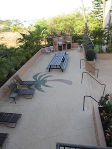 BBQ Area by pool for the complex use