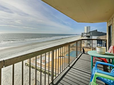 Photo for Spacious Murrells Inlet Condo w/Oceanfront Balcony