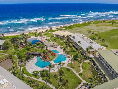 Photo for Kauai Beach Resort 4208, Wonderful Ocean and pool view. Only steps to the beach