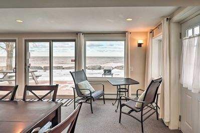 Your family can enjoy a private beach, lakefront deck, & incredible views!