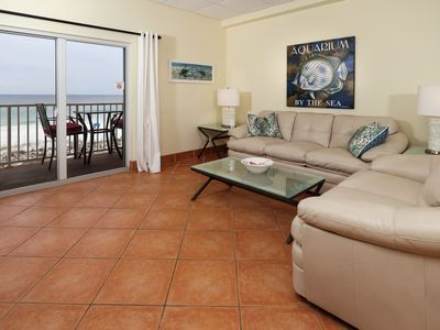 Photo for Beauitful Vacation Condo in Pensacola Beach, Gulf-front balcony, Beach chair setup included