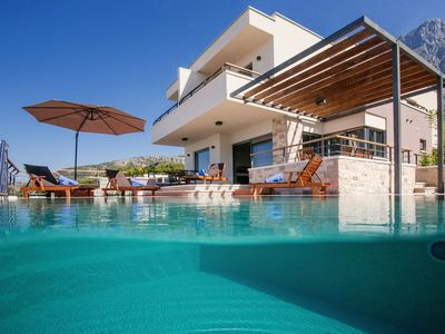 Photo for ctma105 - Modern holiday home with private pool in Makarska, a beautiful terrace with infinity pool (33 m2)