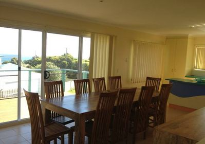 Dining room with seaview