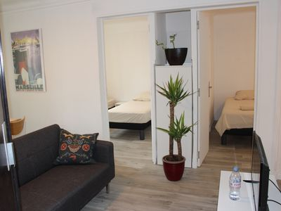 Photo for BRIGHT APARTMENT IN MARSEILLE - BELLE DE MAI DISTRICT - RED APT