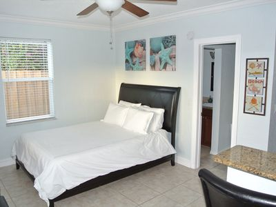 Photo for Downtown Delray Studio w/ Chairs/Umbrella Beach Membership & Private Yard.