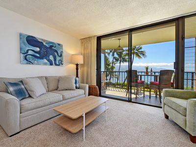 Photo for Stunning Direct Ocean View! Beachy and Breezy- Maalaea Banyans 203