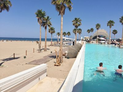 Photo for floor 300 meters from the sea on the beach the sands of valencia