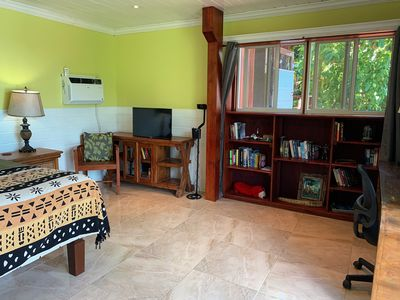 Walk to the beach from this affordable king size room.