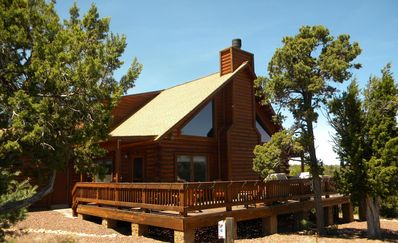 Photo for Lovely log home at nearly 7000ft on 5+ acres.  Gorgeous view of northern Arizona