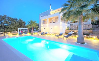 Photo for Villa Trinity, modern luxury villa, private location with heated pool & gym, Rethymno