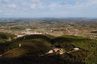 Aerial view of property