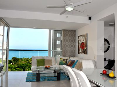 Photo for Privileged ocean's view and beach at 4 blocks. Plaza zazue, shop, entertainment