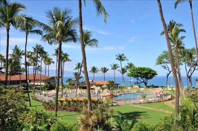 Maui Kaanapali Villas Resort property view (not view from our condo)