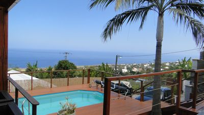 Photo for Piton St Leu: THE LARJ (video) sea view, pool, spa, air conditioning, Furnished 4 * Tourism