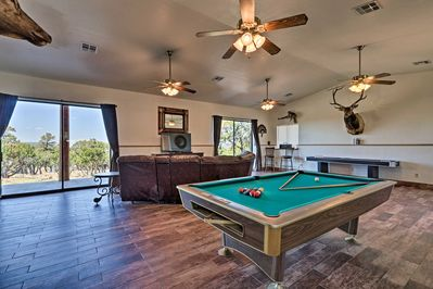 The vacation rental features incredible views along with top-notch amenities.