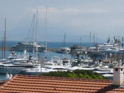 Photo for Penthouse apartment with Stunning View over the Antibes Marina, Sea & Mountains