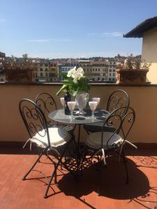 Photo for Fabulous terrace overlooking the Arno 5 mins to the Duomo in the Historic centr