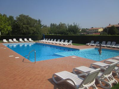 Photo for Three-roomed apartment with pool near the center of Lazise