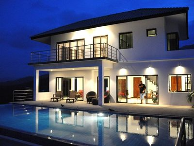 Photo for Stunning detached secluded luxury villa with 60sqm pool and sea view