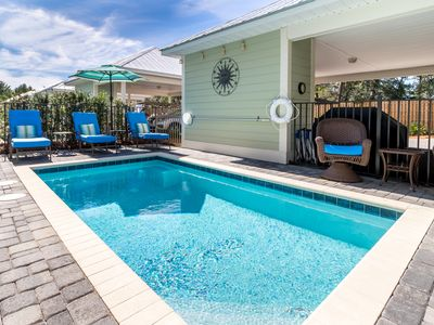 Photo for New Beach House Close to Beach with Private Pool and Complimentary Golf Cart!