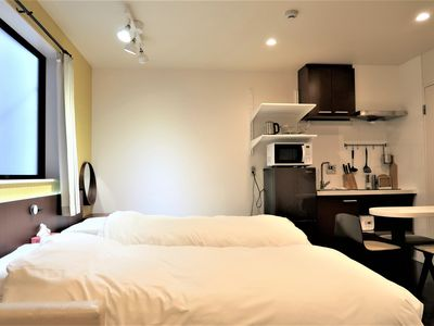 Photo for Newly renovated room 105 with wifi!8 minutes to Namba / 16 minutes to Umeda./ 2 minutes walk from Tamade Subway Station / 700m walk from Kansai Airport to Kishisato Tamade Station by Nankai Train