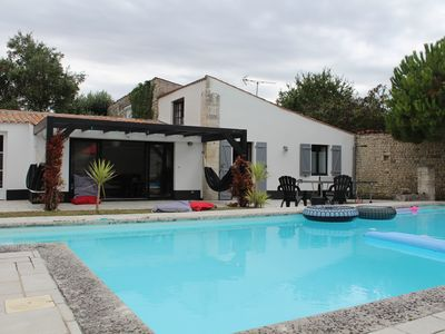 Photo for Two charming houses with swimming pool - 15 to 16 pers