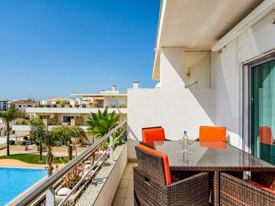 """Photo for Modern Penthouse """"Olhos Água"""" with Wi-Fi, Balcony, Terrace and Pool; Parking Available"""
